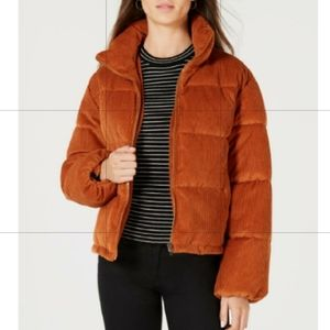 NWT Collection B Cropped Corduroy Puffer Coat